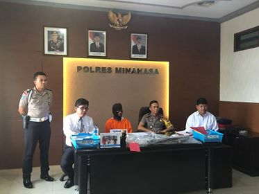 Polres Minahasa gelar jumpa pers, bongkar kasus pembunuhan di Papakelan.