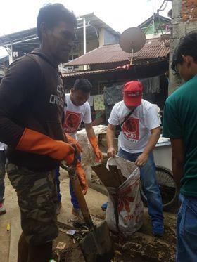 Projo Sulut saat aktif membantu masyarakat di moment HPSN.