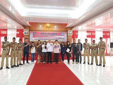 KPU Sulut bersama KPUD Minahasa saat bertandang ke Kampus IPDN Tampusu