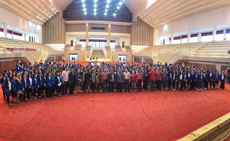 Suasana Wabup Minahasa saat menyambut ratusan Mahasiswa KKN UNIMA.