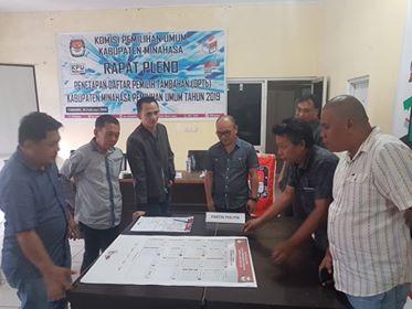 Suasana kegiatan pencermatan DCT yang digelar KPUD Minahasa.