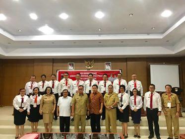 Wabup Minahasa saat menghadiri dan membuka kegiatan Uji Kompetensi PTP Pemkab Minahasa 2019.