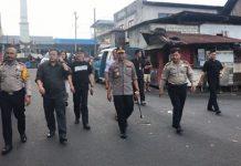 Kapolda Sulut saat melakukan pemantauan di PPK Kawangkoan.